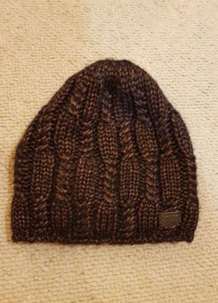 Шапка зимняя с плетением на флисе