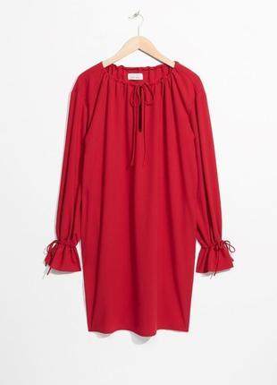 Романтичное красное платье &other stories m/l