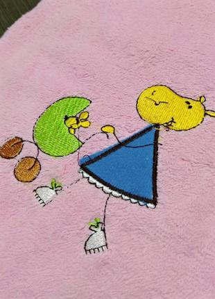 Полотенце для деток банное с вышивкой 60/130 см
