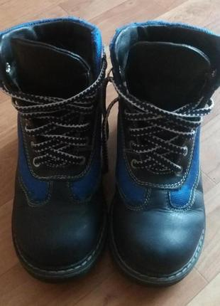 Зимние ортопедические ботинки кожаные