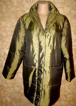 Демисезонная удлиненная курточка(пальто )оверсайз jacqueline riu р.1/s-xl