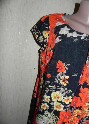 Летнее платье . миди. замеры на фото. 52р-543 фото