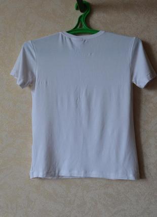 Футболка chanel  белая /белая футболка с принтом3 фото