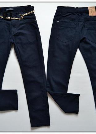 Синие коттоновые брюки для мальчика