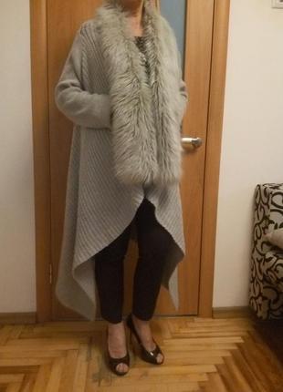 Шикарный теплый кардиган. размер 20.2