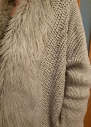 Шикарный теплый кардиган. размер 20.3