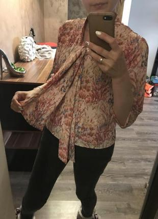 Ретро блуза с зав'язками3
