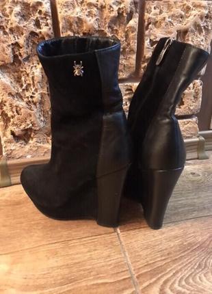 Ботинки чёрные натуральный замш1