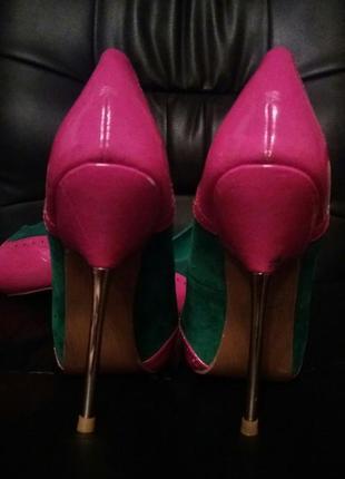 Эфектные туфли на железной шпильке sds2 фото