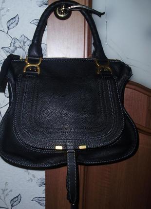 Chloé marcie кожаная сумка1 фото