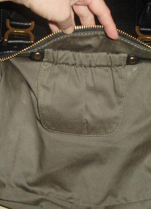 Chloé marcie кожаная сумка5