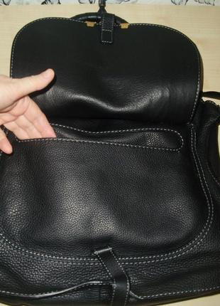 Chloé marcie кожаная сумка9