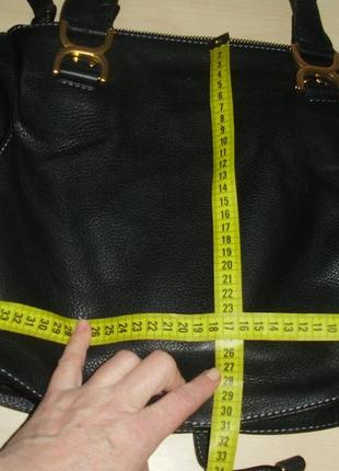 Chloé marcie кожаная сумка10 фото