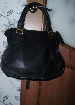 Chloé marcie кожаная сумка2 фото