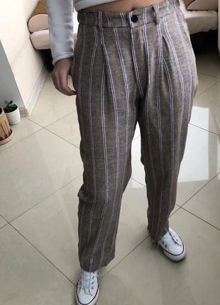 Итальянские брюки лён с вискозой1