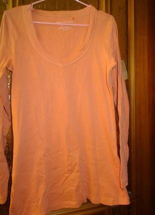 Котоновая  футболка с длинными рукавами3