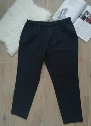 Черные брюки plus size black pants2 фото