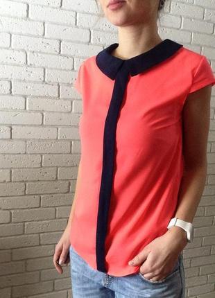 Коралловая блуза s