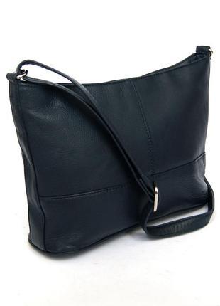 Clarks. функциональная кожаная сумка через плечо. темно синяя1