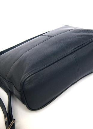 Clarks. функциональная кожаная сумка через плечо. темно синяя3