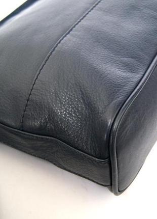 Clarks. функциональная кожаная сумка через плечо. темно синяя4