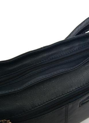 Clarks. функциональная кожаная сумка через плечо. темно синяя7