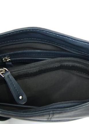 Clarks. функциональная кожаная сумка через плечо. темно синяя8