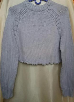 Короткий свитер до талии2