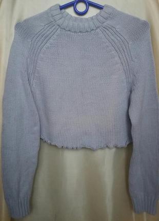 Короткий свитер до талии3