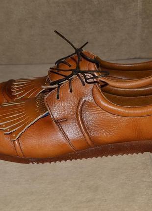 Туфли лоферы кожа 100% кожаные1