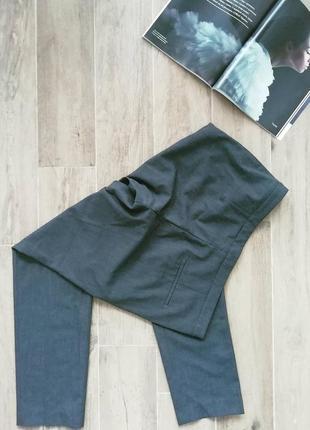 Серые брюки зауженные от h&m smart casual pants2