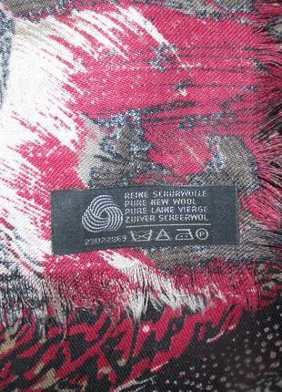 100% шерстяной винтажный платок с павлинами3