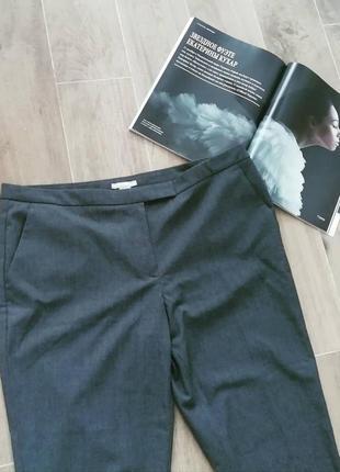 Серые брюки зауженные от h&m smart casual pants3
