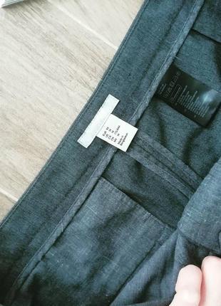 Серые брюки зауженные от h&m smart casual pants4