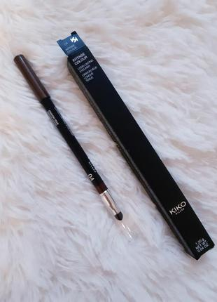 Kaрандаш для глаз intense colour long lasting eyeliner kiko milano ! оттенок 043