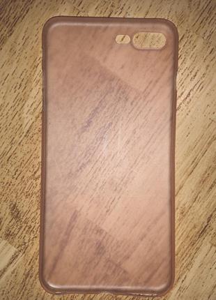 Нежно розовый полупрозрачный чехол на iphone 7+/8+2 фото
