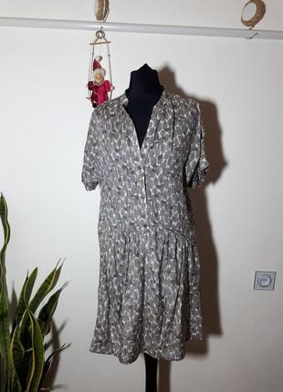Легенькое платье вискоза и шелк comptoir des cotonniers1