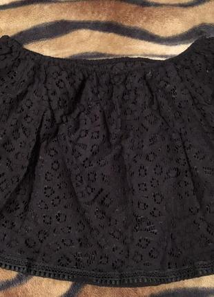 Топ летний / кружевной топ / футболка / майка блуза / открытые плечи / с открытыми плечам