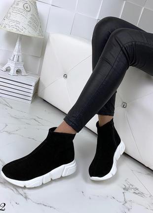 Замшевые демисезонные ботинки полуботинки в спортивном стиле. 36-404 фото