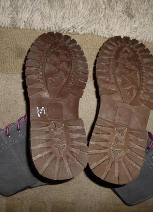 Супер-стильные мягкие бренд.сапожки ellesse,замша,италия,шнуровка5