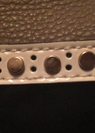Фирменная сумка gussaci; черно-бежевая сумка;7