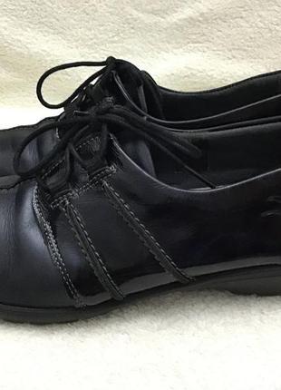 Туфли кожаные fly foot comfort vera pele 39 p2 фото