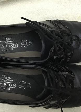 Туфли кожаные fly foot comfort vera pele 39 p7 фото