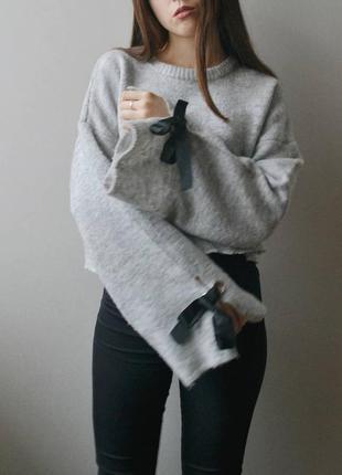 Укороченный свитер с рукавом-клеш primark2