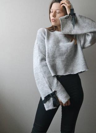 Укороченный свитер с рукавом-клеш primark3