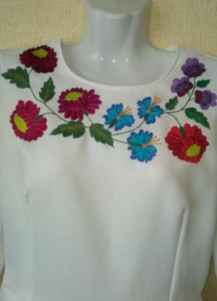 Блузка вышиванка блуза р.44-46 р.s ручная работа2 фото