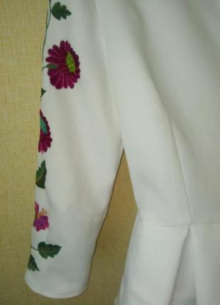 Блузка вышиванка блуза р.44-46 р.s ручная работа8 фото