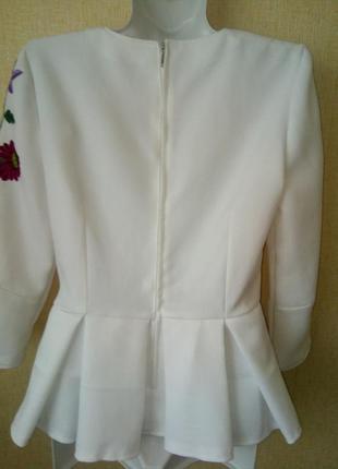 Блузка вышиванка блуза р.44-46 р.s ручная работа6 фото