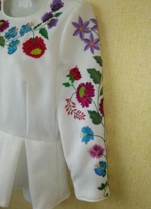 Блузка вышиванка блуза р.44-46 р.s ручная работа5 фото