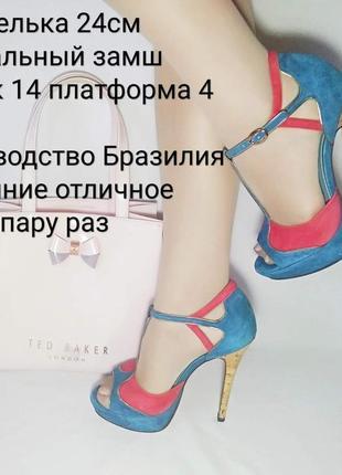 💙замшевые босоножки kg на каблуке 💙